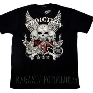 мужская футболка 3 skulls-3 stars-bike