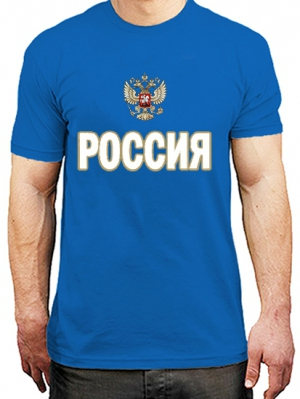 патриотичная футболка с символикой россии с гербом