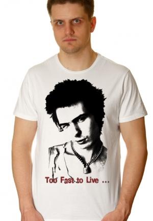 футболка sid vicious too fast to live - на заказ