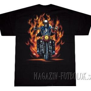 skeleton fire байкерские майки для мужчин