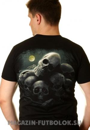 3-d футболка с черепом и гильотиной