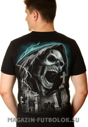 футболка смерть с косой и храм
