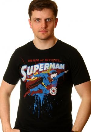 ретро футболка superman