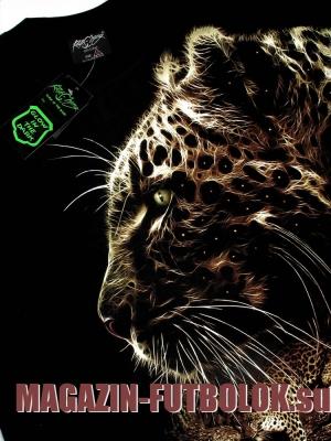 светящаяся футболка в темноте с леопардом