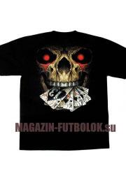 3d футболка череп skull jocker