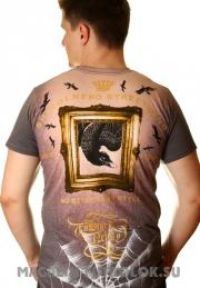 футболка shiroi neko head and raven