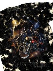 байкерская футболка tie die biker сastle