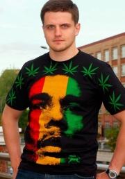 Футболка Боб Марли c флагом Ямайки
