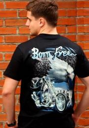 born free футболка с мото символикой