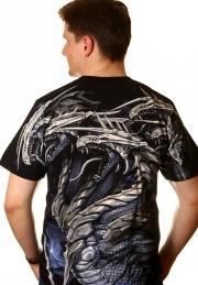 футболка с пятью драконами