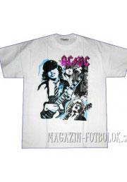 футболка ac-dc white