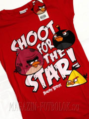 футболка angry birds shoot for the star
