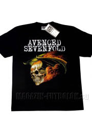 футболка avenged sevenfold skull wings fire