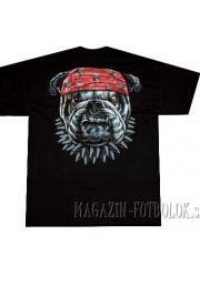 футболка байкерская buldog red bandana