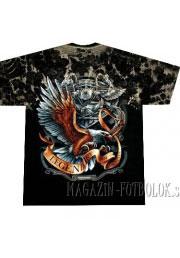 футболка байкерская eagle legendary tie-dye