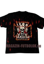 футболка байкерская iron caravan chopper