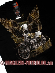 футболка байкерская ride with pride