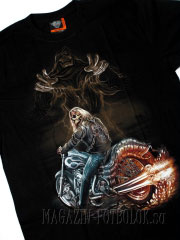 футболка байкерская с призраком смерти