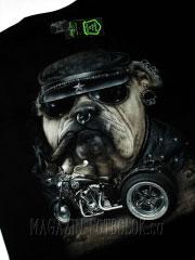 футболка с бульдогом - buldog cigar moto