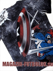 футболка captain america total print