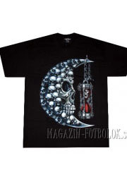 футболка череп — полумесяц