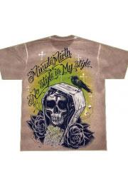 футболка череп в гробу