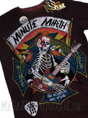 футболка для музыканта skeleton guitarist