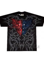 футболка двухцветный дракон