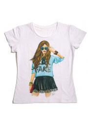 fake - футболка с надписями для девушек