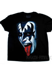 футболка gene simmons kiss face piercing