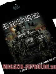футболка iron maiden life and death