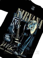 футболка kurt cobain on stage