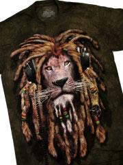 футболка лев диджей