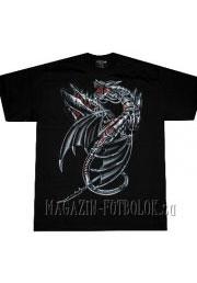футболка металлический дракон