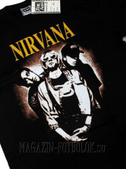 футболка с надписью группы нирвана