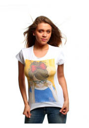 футболка portrait с портретом девочки