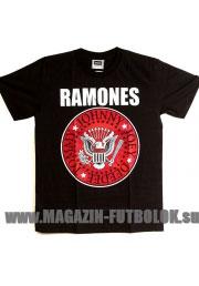 Майка Ramones с красным логотипом