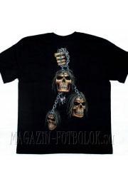 футболка с черепами на цепях