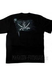 футболка с черепом pirate skull