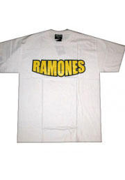 Футболка с надписью рок группы RAMONES
