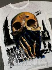 футболка с оригинальным принтом skull bandana