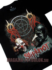 футболка slipknot two masks