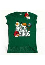 женская футболка angry birds green girls