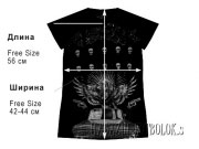 модная женская футболка heaven&hell
