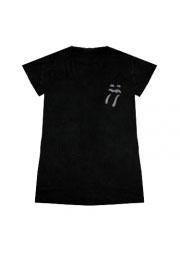 женская футболка со стразами rolling stones