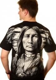 футболка с изображением индейца