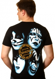 футболка музыкальная kiss shade