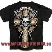 крутая майка two skeleton cross