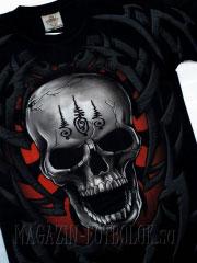 купить футболку с 3d рисунком черепа
