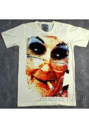 курящая бабка - футболка с приколами